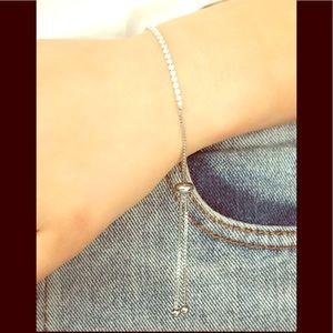 Jewelry - Silver Cinch Tennis Bracelet / NEW!! (OS)